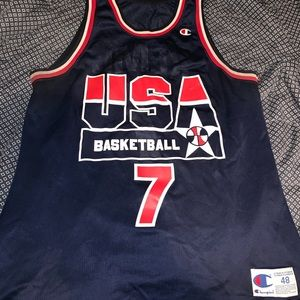 NBA Champion USA kemp #7 Jersey size 48 dreamteam